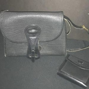 Vintage Dooney & Bourke Leather Bag w/ Wallet Set
